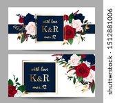 wedding invitation with... | Shutterstock .eps vector #1512881006