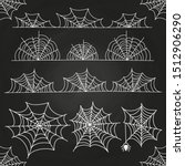 white spider web on chalkboard... | Shutterstock . vector #1512906290