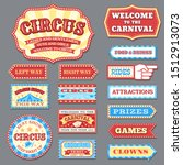 vintage circus labels and... | Shutterstock . vector #1512913073
