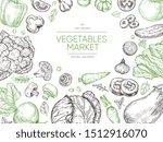 vegetables hand drawn...   Shutterstock . vector #1512916070