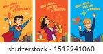 set of motivating posters.... | Shutterstock . vector #1512941060