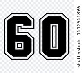 number 60 vector isolated... | Shutterstock .eps vector #1512951896
