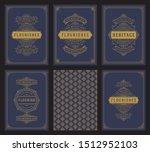 vintage ornament greeting cards ... | Shutterstock .eps vector #1512952103