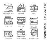 restaurant types related ... | Shutterstock .eps vector #1512953540