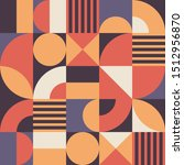 abstract geometric vector... | Shutterstock .eps vector #1512956870