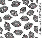 lips with vampire teeth vector... | Shutterstock .eps vector #1512962456