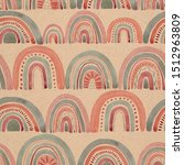 seamless pattern with... | Shutterstock . vector #1512963809