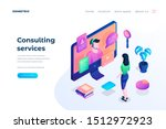 consulting services landing... | Shutterstock .eps vector #1512972923