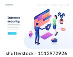 internet security landing page... | Shutterstock .eps vector #1512972926