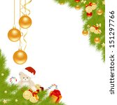 Christmas Card Background With...