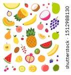 fruit vector collection...   Shutterstock .eps vector #1512988130