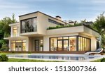 Modern House With Terrace And A ...