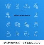 mental science line icon set.... | Shutterstock .eps vector #1513026179