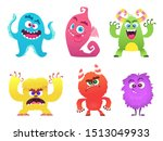 cartoon monsters. goblin... | Shutterstock . vector #1513049933