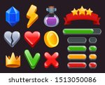 game ui kit icons. stars...