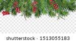 realistic vector christmas tree ... | Shutterstock .eps vector #1513055183