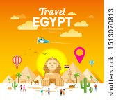 Egypt Travel People Vector....