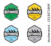 emblem vintage out house... | Shutterstock .eps vector #1513071809