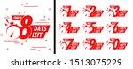 number days left countdown... | Shutterstock .eps vector #1513075229