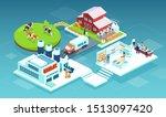 isometric vector of a milk...   Shutterstock .eps vector #1513097420