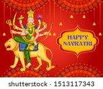 vector design of goddess durga... | Shutterstock .eps vector #1513117343