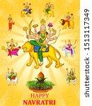 vector design of goddess durga... | Shutterstock .eps vector #1513117349