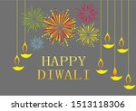 diwali a festival of light and... | Shutterstock . vector #1513118306