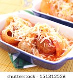 pasta with meat | Shutterstock . vector #151312526