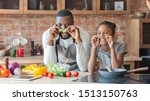 black funny father and daughter ... | Shutterstock . vector #1513150763