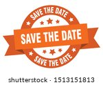 save the date ribbon. save the... | Shutterstock .eps vector #1513151813