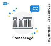 Stonehenge Flat Icon. Used For...