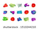 colorful irregular shapes set.... | Shutterstock .eps vector #1513244210