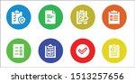 checkbox icon set. 8 filled...