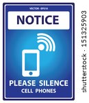 Vector   Blue Notice Plate For...