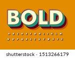 modern 3d bold font and alphabet   Shutterstock .eps vector #1513266179