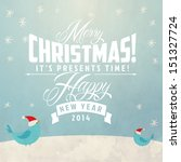 christmas card with... | Shutterstock .eps vector #151327724