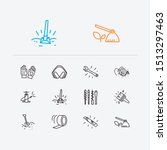 instrument icons set. hoe and...