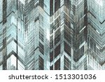 Stock photo the geometric pattern variegated checked herringbone textured distressed effect on heritage checks 1513301036