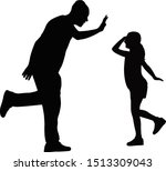 a father and daughter playing... | Shutterstock .eps vector #1513309043