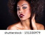 stunning portrait of an african ... | Shutterstock . vector #151330979