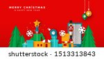 merry christmas happy new year... | Shutterstock .eps vector #1513313843