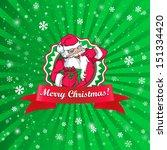 santa claus christmas card  | Shutterstock .eps vector #151334420