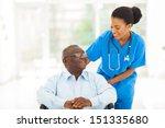 beautiful african nurse taking... | Shutterstock . vector #151335680