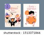happy halloween character... | Shutterstock .eps vector #1513371866