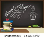 back to school poster  with... | Shutterstock .eps vector #151337249