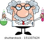 mad scientist or professor... | Shutterstock .eps vector #151337624