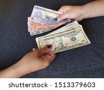 Women Hands Exchanging Honduran ...