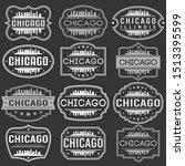 chicago illinois skyline.... | Shutterstock .eps vector #1513395599