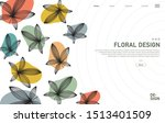 creative banner decorated with... | Shutterstock .eps vector #1513401509