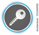 key  elegance blue version  | Shutterstock .eps vector #151340900